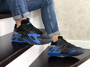 Мужские кроссовки (в стиле) Adidas Streetball,черные с синим, фото 2