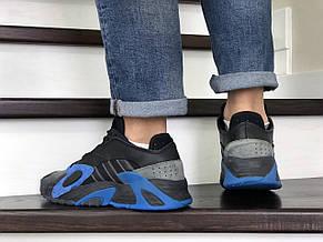 Мужские кроссовки (в стиле) Adidas Streetball,черные с синим, фото 3