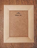 Рамка деревянная 50х70см, ширина 45мм, с ДВП, под покраску, для декора, декупаж