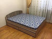 Кровать двуспальная Астория с МАТРАСОМ и 2-мя ящиками сонома + трюфель Эверест (165х203х79 см)