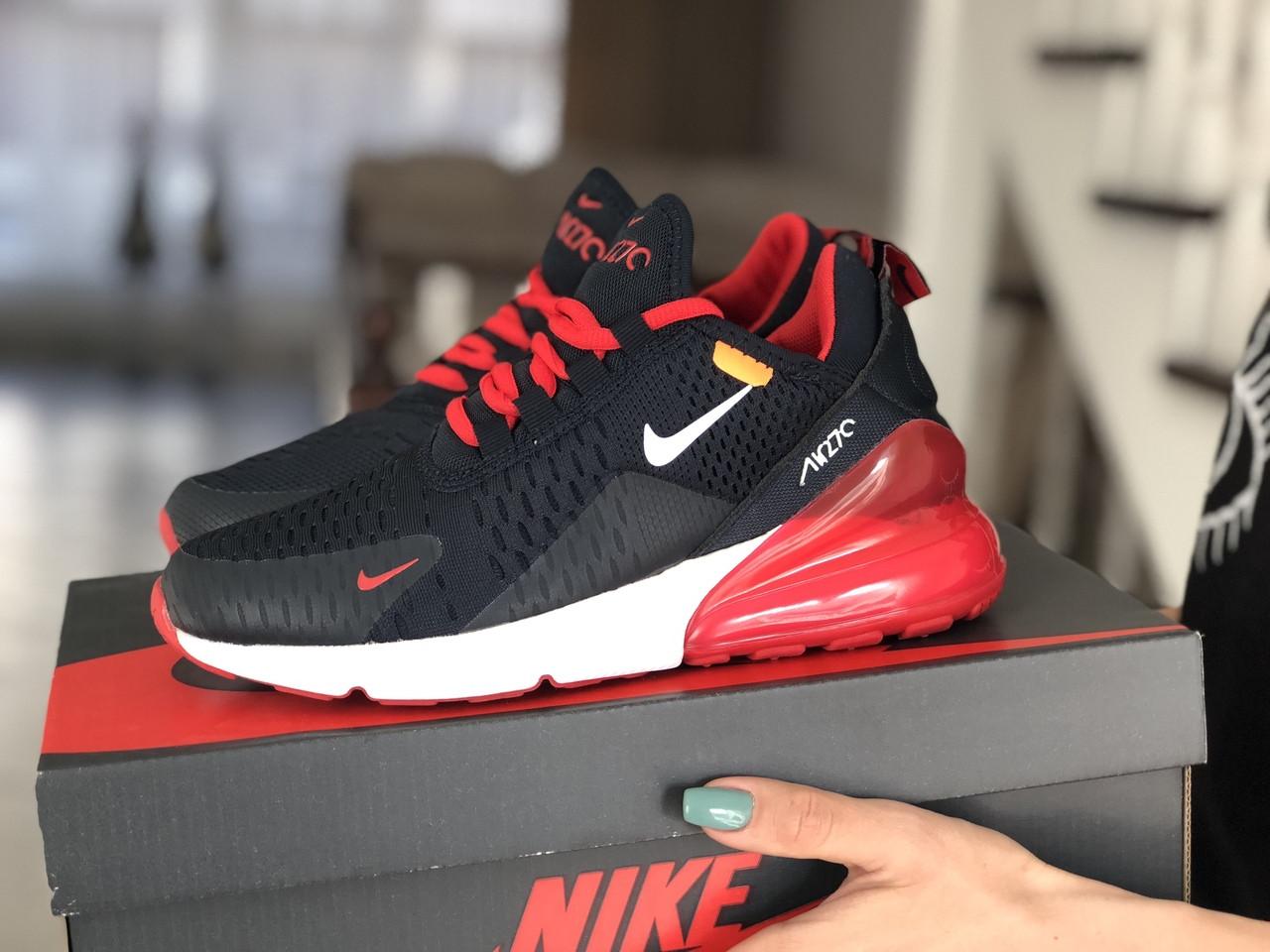 Женские кроссовки (в стиле) Nike Air Max 270,сетка,темно синие с красным