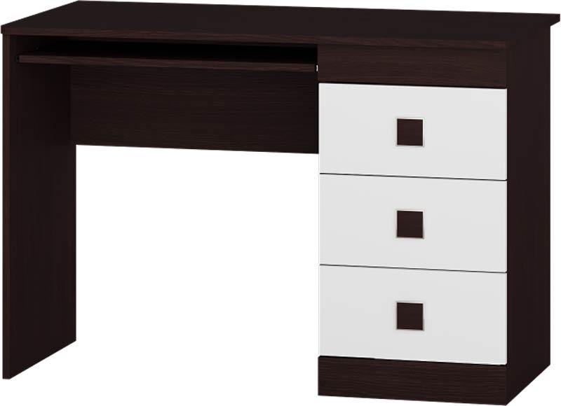 Стол компьютерный Соната ЭВЕРЕСТ Венге темный + Белый (110х55х76 см)