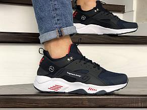 Мужские кроссовки (в стиле) Nike Air Huarache Fragment Design,темно синие с белым, фото 3