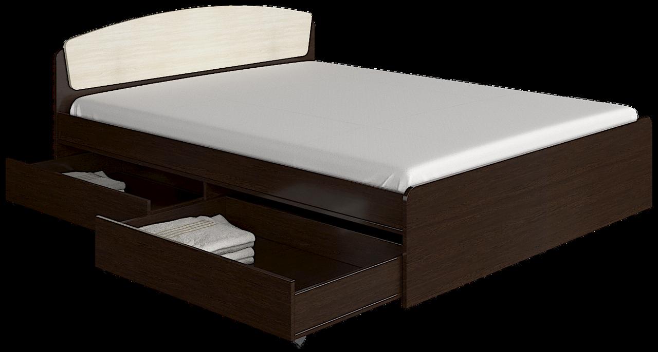 Кровать Астория 160х200 с двумя ящиками  + МАТРАС венге комби Эверест