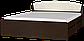Кровать Астория 160х200 с двумя ящиками  + МАТРАС венге комби Эверест, фото 2