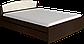 Кровать Астория 160х200 с двумя ящиками  + МАТРАС венге комби Эверест, фото 4