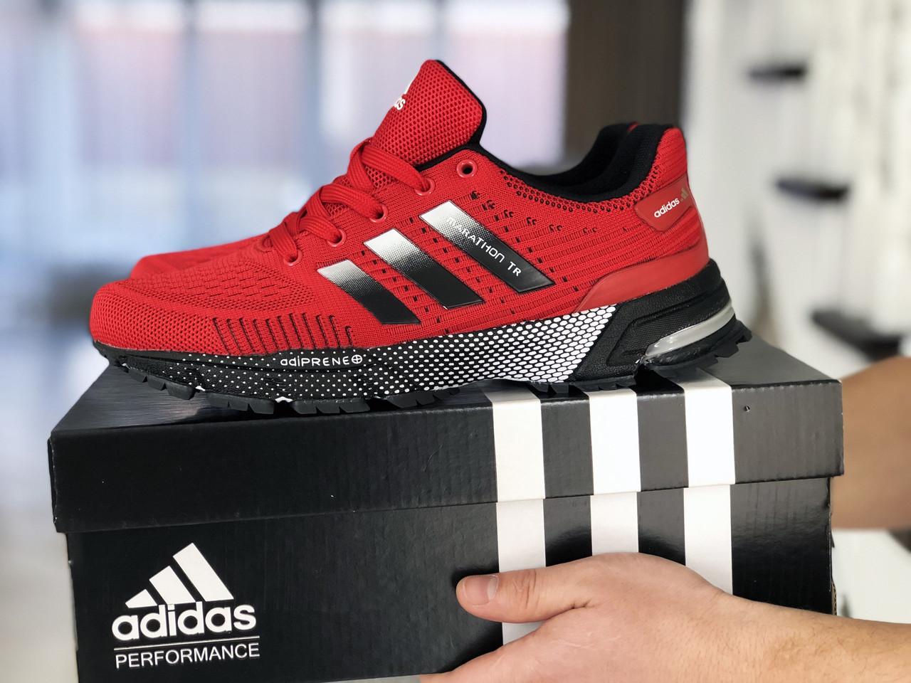 Кроссовки (в стиле) Adidas Marathon TR,сетка,красные
