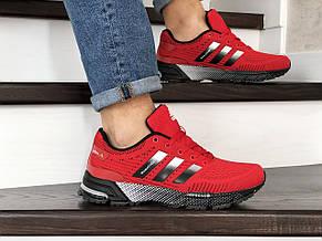 Кроссовки (в стиле) Adidas Marathon TR,сетка,красные, фото 2