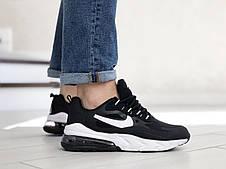 Модные кроссовки (в стиле) Nike Air Max 270 React,черно белые, фото 2