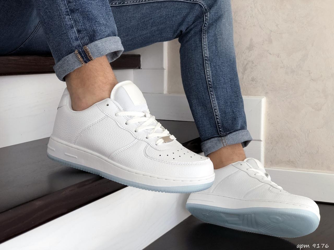 Мужские кроссовки (в стиле) Nike Air Force,белые