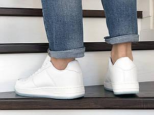 Мужские кроссовки (в стиле) Nike Air Force,белые, фото 2