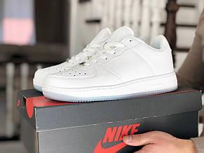 Мужские кроссовки (в стиле) Nike Air Force,белые, фото 3