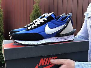 Мужские кроссовки (в стиле) Nike Undercover Jun Takahashi,синие с  белым, фото 2