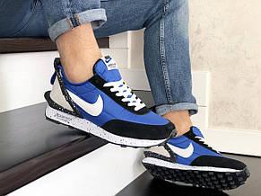 Мужские кроссовки (в стиле) Nike Undercover Jun Takahashi,синие с  белым, фото 3