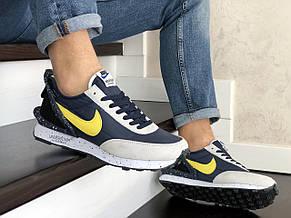 Мужские кроссовки (в стиле) Nike Undercover Jun Takahashi,темно синие с желтым, фото 2