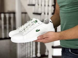 Мужские кроссовки (в стиле) Lacoste,белые, фото 2