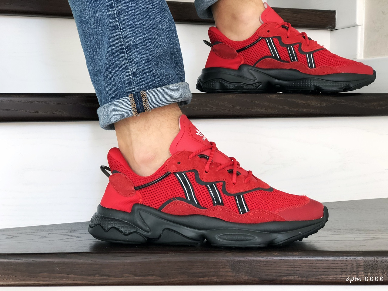 Кроссовки (в стиле) мужские Adidas Ozweego TR,красные