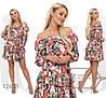 Красивое стильное летнее платье с цветочным принтом и воланами (р.42-48). Арт-2867/23