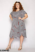 Трикотажное платье женское летнее размеры 54-58