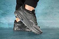 Мужские кроссовки текстильные весна/осень черные Classica А 602, фото 1