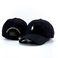 Мужская кепка, бейсболка Polo Ralph Lauren (Ральф Лорен), черная