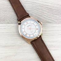 Yazole Quartz 336 Silver-White-Brown Оригинальные часы + годовая гарантия на механизм