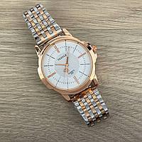 Yazole Quartz 358 Gold-Silver-White Оригинальные часы + годовая гарантия на механизм