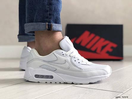 Мужские кроссовки (в стиле) Nike air max 90,белые, фото 2
