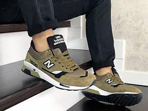 Замшевые мужские кроссовки (в стиле) New Balance 1500,темно зеленые, фото 3