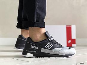 Замшевые мужские кроссовки (в стиле) New Balance 1500,черно серые, фото 2