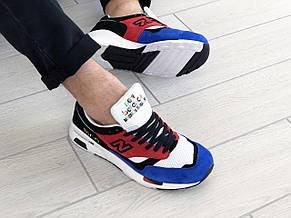 Мужские кроссовки (в стиле) New Balance 1500,красные с синим, фото 3