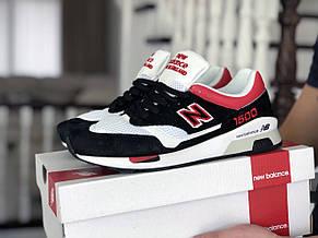 Мужские кроссовки (в стиле) New Balance 1500,черные с белым/красным, фото 2