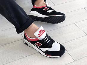Мужские кроссовки (в стиле) New Balance 1500,черные с белым/красным, фото 3