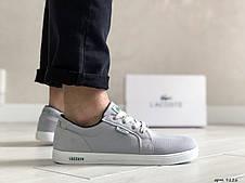 Мужские кроссовки (в стиле),кеды (в стиле) Lacoste,текстиль,серые, фото 3
