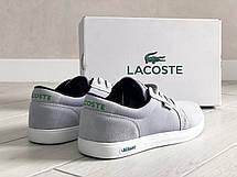 Мужские кроссовки (в стиле),кеды (в стиле) Lacoste,текстиль,серые, фото 2