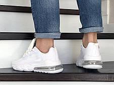 Модные кроссовки (в стиле) Nike Air Max 270 React,белые, фото 3