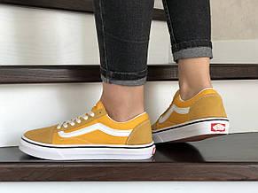 Женские кеды (в стиле) Vans,замшевые,желтые, фото 3