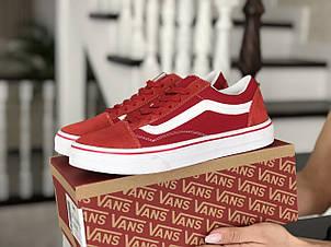 Женские кеды (в стиле) Vans,замшевые, красные, фото 2