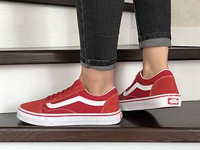 Женские кеды (в стиле) Vans,замшевые, красные, фото 3