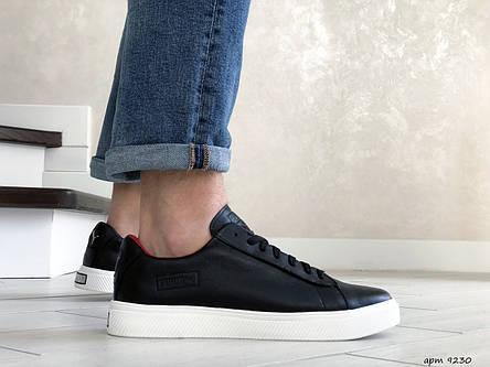 Кожаные кроссовки (в стиле) Puma   ,темно синие, фото 2