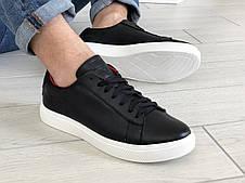 Кожаные кроссовки (в стиле) Puma   ,темно синие, фото 3