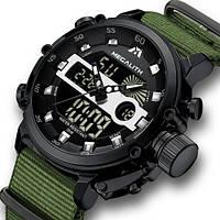 Наручные кварцевые часы Megalith 8051M Khaki-Black