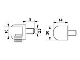 Полкотримач для скляних полиць GIFF з фіксацією хром, фото 2