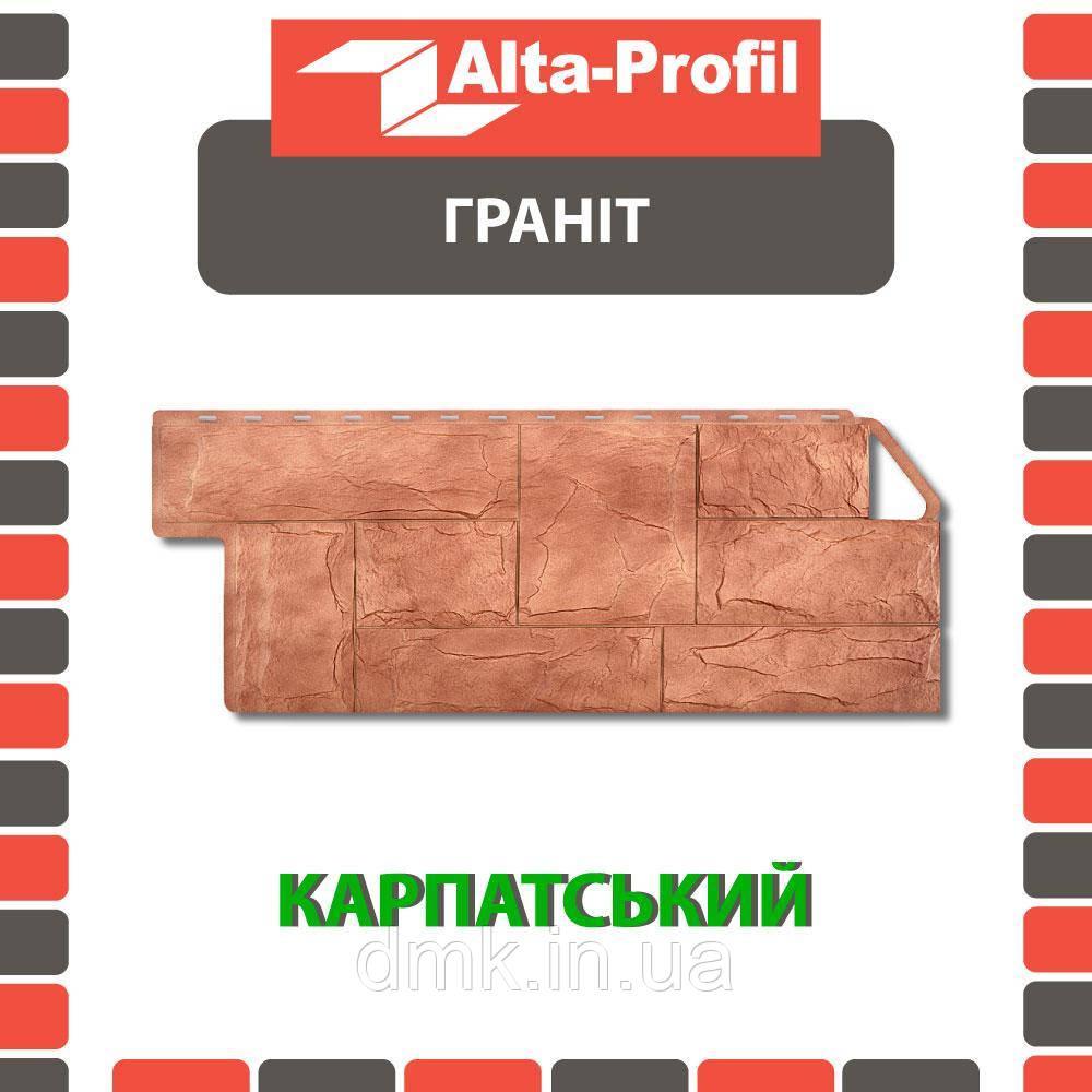 Фасадная панель Альта-Профиль Гранит 1160х450х20 мм Карпатский