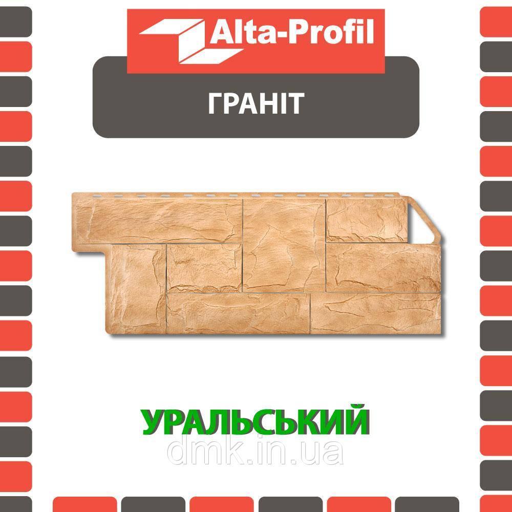 Фасадна панель Альта-Профіль Граніт 1160х450х20 мм Уральський