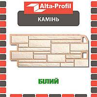 Фасадная панель Альта-Профиль Камень 1130х470х20 мм Белый