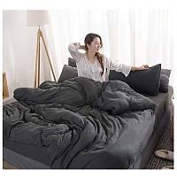 Комплект постельного белья Графит, поплин Lux, разные размеры