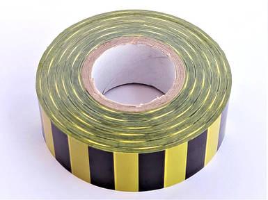 Полоса Gieffe для обозначения растений, 2,5см*100м желто-чёрная