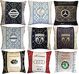 Подушка с логотипом машины, подушка-подголовник. автоаксессуары, фото 7