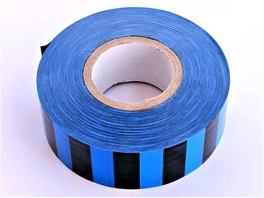 Полоса Gieffe для обозначения растений, 2,5см*100м чёрно-голубая